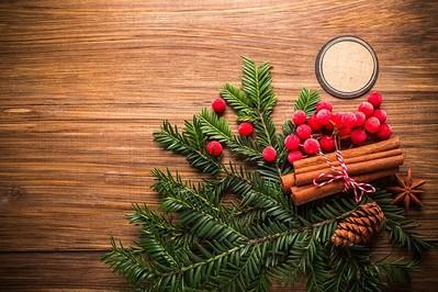 Stroik bożonarodzeniowy na stół