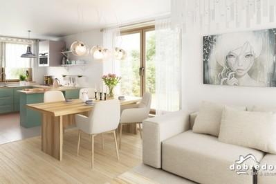 Nowoczesne projekty domów z salonem połączonym z kuchnią