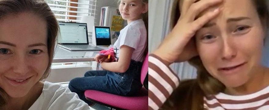 Agata Rubik narzeka na naukę zdalną swoich córek