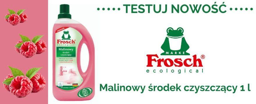 TESTOWANIE: ekologiczny środek czyszczący marki Frosch o zapachu maliny!