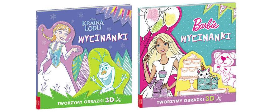 """""""Kraina lodu. Wycinanki"""", """"Barbie™. Wycinanki"""""""