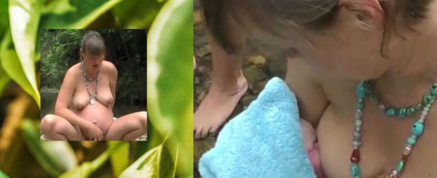 Poród w australijskiej dżungli zachwyca mamy w sieci?