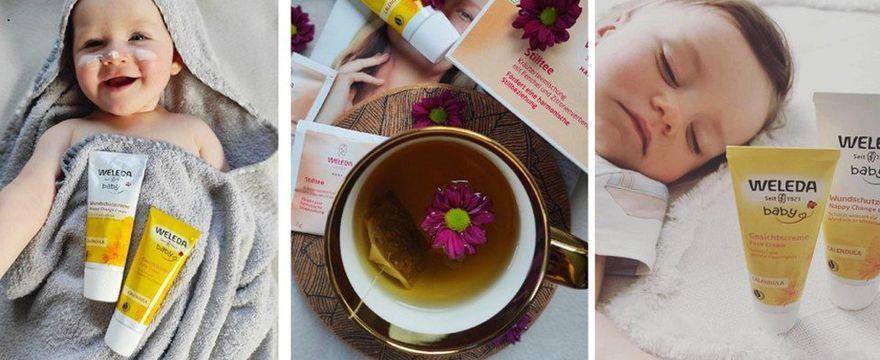 Mamy zachwycone kosmetykami dla dzieci Weleda i herbatką na laktację!
