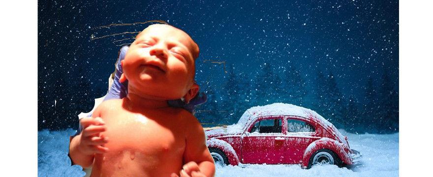 Szokująca historia! Kobieta urodziła w samochodzie - na mrozie i w lesie!