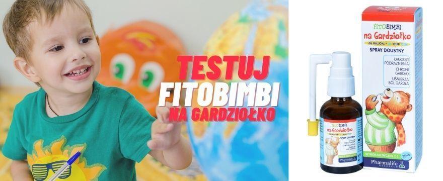 TESTOWANIE: wypróbuj FITOBIMBI - spray na gardło już od 1. roku życia!