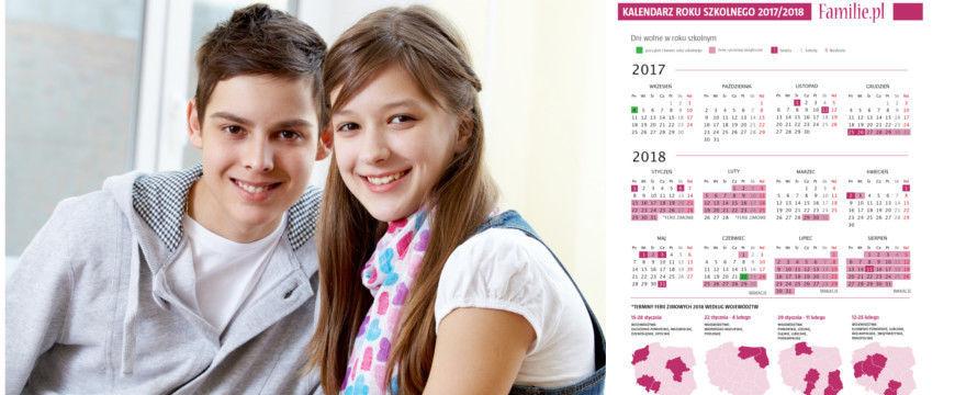 Kalendarz roku szkolnego 2017/2018