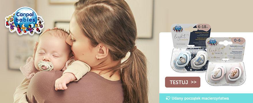 Startuje wielkie TESTOWANIE smoczków z wyjątkowej kolekcji Light Touch od Canpol babies!