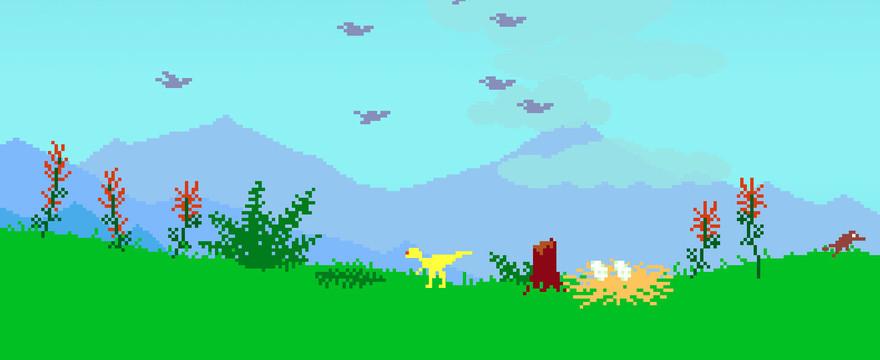 Uratuj sympatycznego dinozaura w Dino Run!