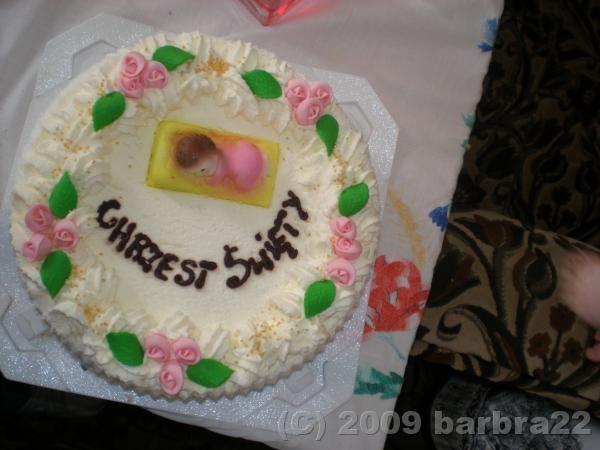 to mój tort na chrzest