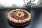 Pierwsze w tym roku truskawkowe ciasto.
