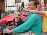 Z tatą i Julką na simsonku.