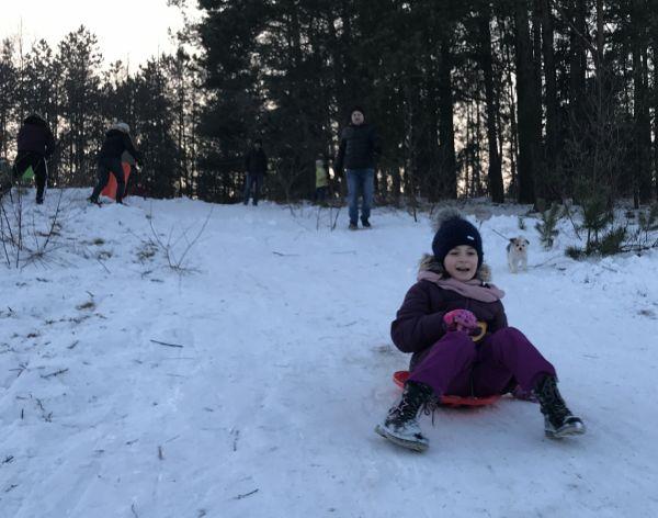 Zabawa na sniegu