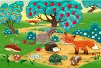 fototapeta-zwierzeta-w-lesie-cartoon-ilustracji-wektorowych-ilustracja.jpg