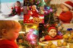Córeczka Amelka w święta przebrała się za elfika-pomocnika, bacznie przyglądała się ozodobom choinkowym i migoczącym światełkom, pałaszowała orzechy laskowe domowej roboty, bawiła się i psociła. :-)