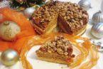 Torcik orzechowy z pastą pomarańczową