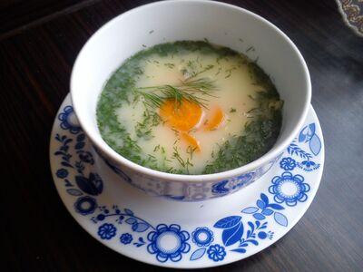 Wiosenna zupa koperkowa.