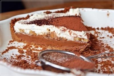 czekoladowa tarta banoffee