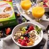 Wegańskie śniadanie pełne błonnika (z owocami, mlekiem roślinnym i masłem orzechowym)