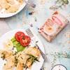 Pierogi z soczewicą marki Halina, fetą, gorgonzolą i groszkiem