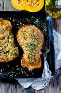Dynia piżmowa faszerowana mięsem i serem