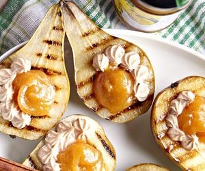 Gruszki nadziewane dżemem z owoców Pigwowiec z acerolą i serkiem mascarpone