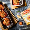 Papryka zapiekana z kaszą orkiszową, kurczakiem i pomidorami