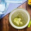 Zupa krem z groszku zielonego z awokado na bazie wody